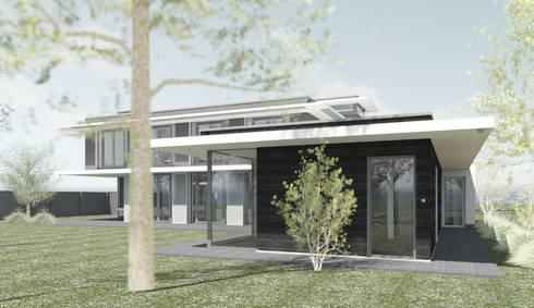 Moderne luxe villa loonsebaan te vught door architectengilde homify - Houten toren zwembad ...