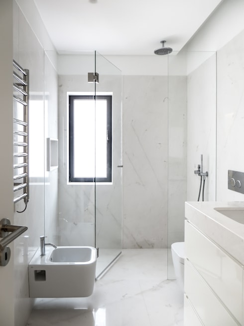 Casa Azevedo Coutinho : Casas de banho minimalistas por Diana Vieira da Silva Arquitectura e Design