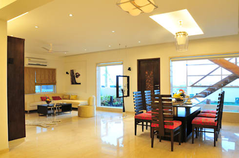 Penthouse Design: asian Living room by Aum Architects