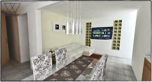 DEPARTAMENTO H.ILUSTRES: Salas de estilo moderno por WIGO SC