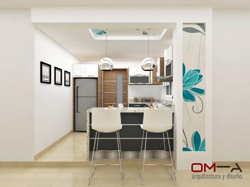 Minimalistische küche von om a arquitectura y diseño