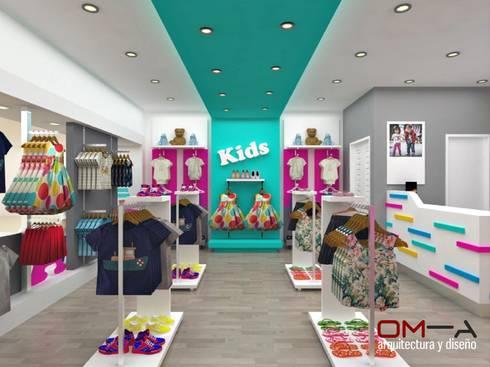Diseño interior de tienda de ropa para niños von om-a arquitectura y ...