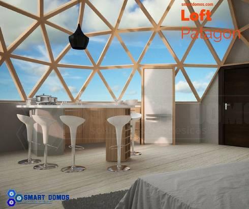 loft patagon: Dormitorios de estilo moderno por smart domos