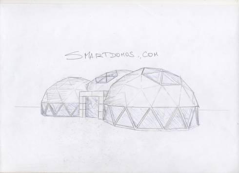 bosquejo: Salas multimedias de estilo  por smart domos