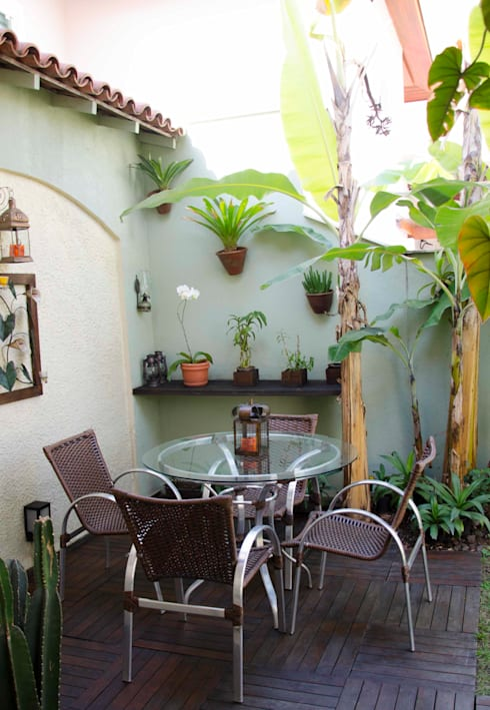 Jardines de estilo  por ELLIANE FREITAS DESIGN DE INTERIORES