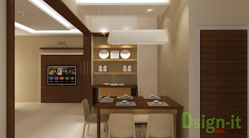PROJECT-1 ( MR. Sunil , HSR LAYOUT ): modern Dining room by Dsign-it