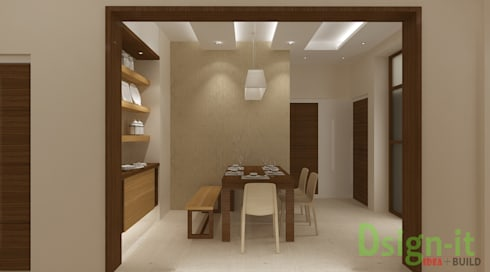 PROJECT-1 ( MR. Sunil , HSR LAYOUT ): asian Dining room by Dsign-it