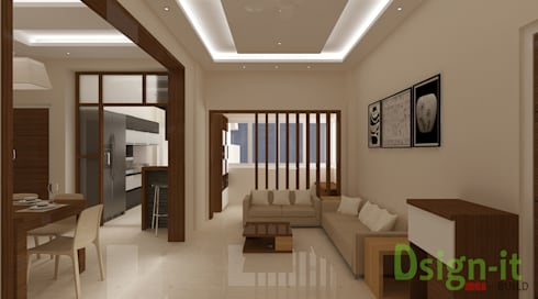 PROJECT-1 ( MR. Sunil , HSR LAYOUT ): asian Living room by Dsign-it