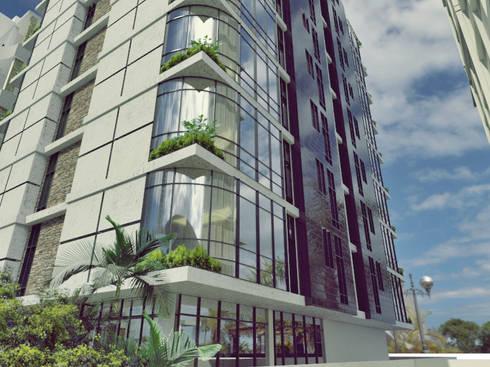 Apartamento residencial camuri: Casas de estilo moderno por JM Diseños