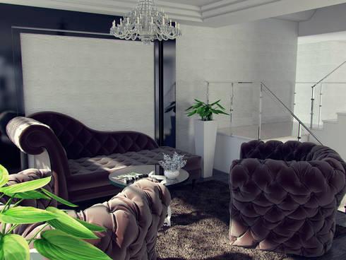 Apartamento residencial camuri: Salas / recibidores de estilo  por JM Diseños