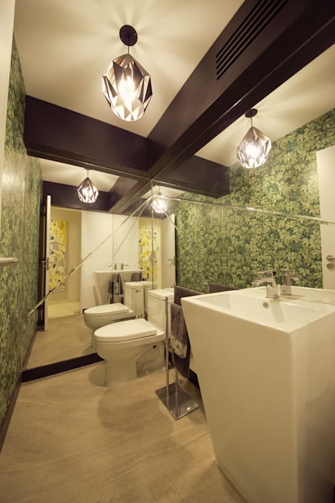 Departamento Malecon Miraflores: Baños de estilo ecléctico por Oneto/Sousa Arquitectura Interior