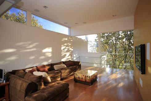 Sala multimedia: Salas multimedia de estilo minimalista por Echauri Morales Arquitectos