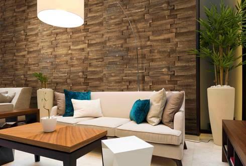 Arizona nogal: Paredes de estilo  por PANESPOL, Surface Lovers