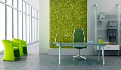 Natural Moss Spring Green: Paredes de estilo  por PANESPOL, Surface Lovers