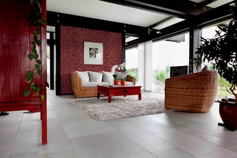 Natural Moss Bourdeaux: Paredes de estilo  por PANESPOL, Surface Lovers
