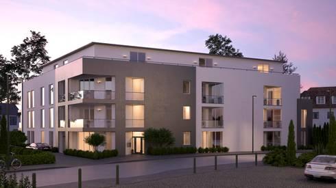 visualisierung mehrfamilienhaus bei d sseldorf by beyond reality architekturvisualisierung. Black Bedroom Furniture Sets. Home Design Ideas
