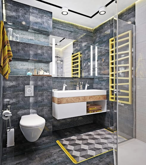 Baños de estilo  por Студия дизайна Interior Design IDEAS