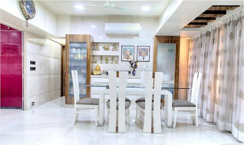 2BHK RESIDENCE: modern Dining room by HK ARCHITECTS