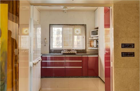 2BHK RESIDENCE: modern Kitchen by HK ARCHITECTS