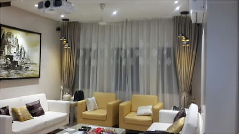 PIROZE PALACE: modern Living room by HK ARCHITECTS
