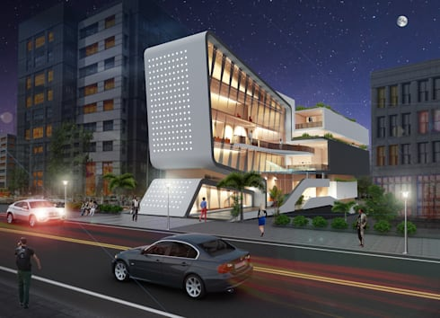 Parimal Towers:  Commercial Spaces by MYSPACE ARCHITECTS