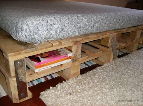 Pormenor da cama: Quarto  por Armazém 9