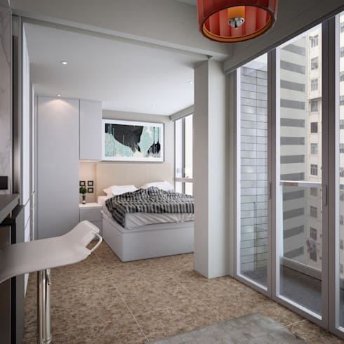 South Lane | Kennedy Town | Hong Kong: modern Bedroom by Nelson W Design