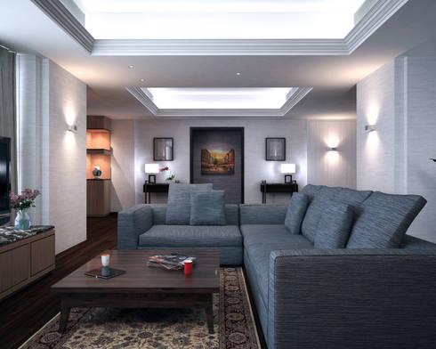 Discovery Primea   Manila: modern Living room by Nelson W Design