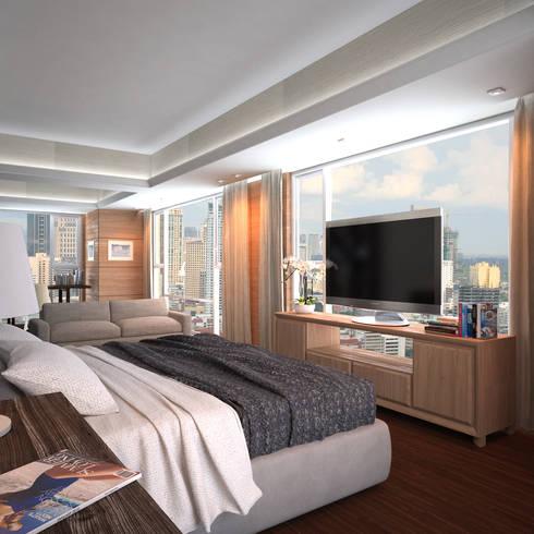 Discovery Primea   Manila: modern Bedroom by Nelson W Design