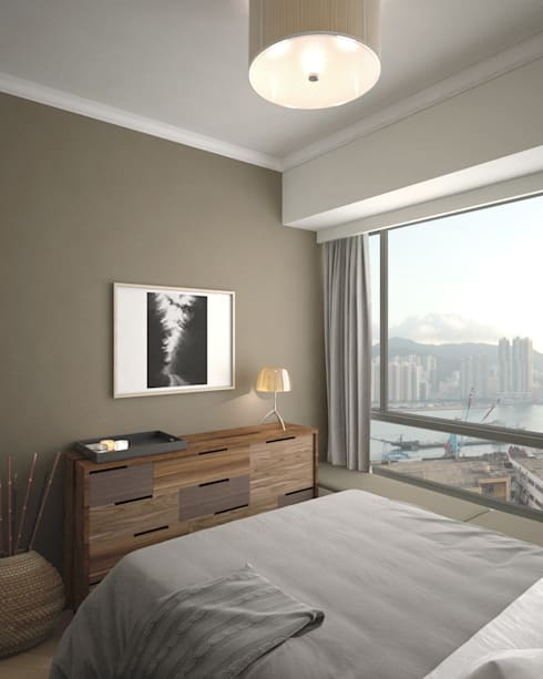 Ocean One | Lei Yue Mun | Hong Kong : classic Bedroom by Nelson W Design