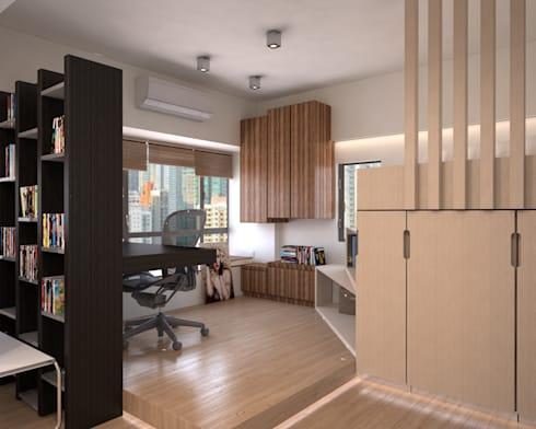 Vantage Park | mid-level | Hong Kong: modern Study/office by Nelson W Design