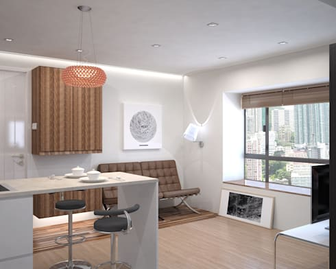 Vantage Park | mid-level | Hong Kong: modern Living room by Nelson W Design