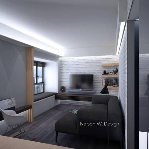 The Long Beach   Hong Kong: modern Living room by Nelson W Design