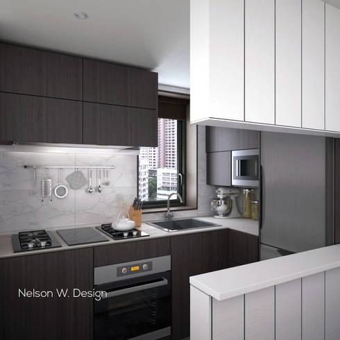 The Long Beach   Hong Kong: modern Kitchen by Nelson W Design