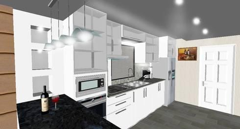 Diseño de Cocina y Cielo Raso:  de estilo  por JOHN DESIGNS