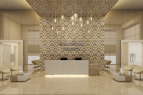 RECEPTION AREA:  Walls by De Panache  - Interior Architects