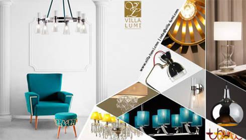 Villa Lumi lamps: Casa  por LUZZA by AIPI - Portuguese Lighting Association