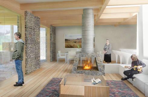 Vista interior de la vivienda: Habitaciones de estilo rural por ARMarquitectura