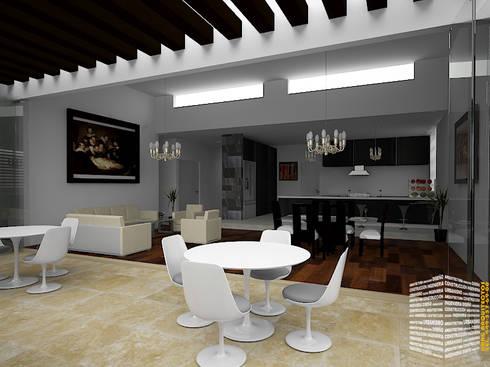 TERRAZA CON PERGOLAS: Casas de estilo clásico por HHRG ARQUITECTOS