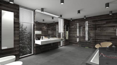Projekt łazienki w stylu skandynawskim by Architega  homify