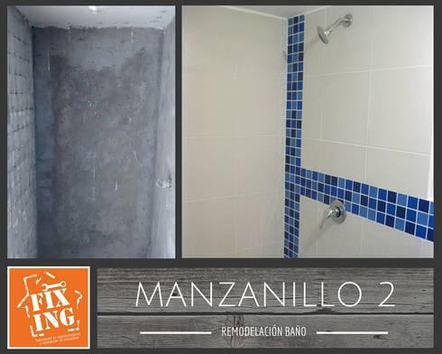 Remodelación de baño:  de estilo  por Fixing