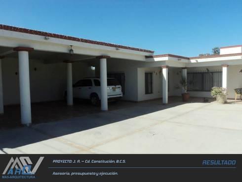 J. R. - Cd. Constitución B.C.S.: Casas de estilo rústico por MA5-Arquitectura