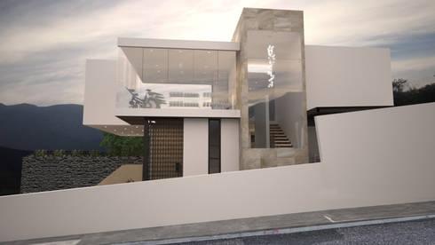 FACHADA LATERAL: Casas de estilo moderno por Nova Arquitectura