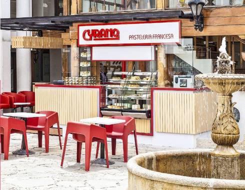 Cyrano Pasteleria: Locales gastronómicos de estilo  por AV arquitectos