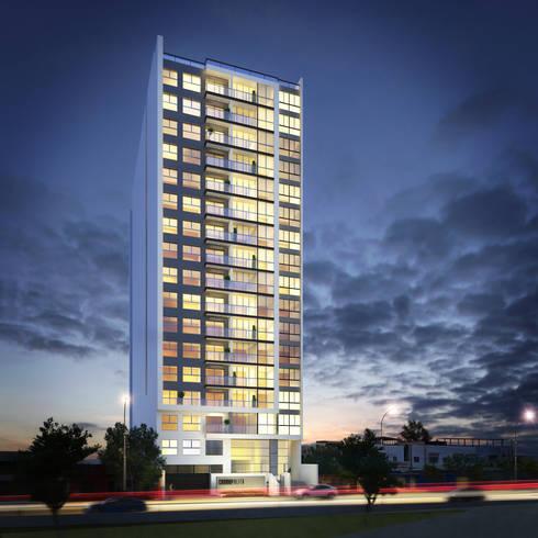Edificio Cosmopolita - COSMOPOLITA:  de estilo  por FABRE STUDIO