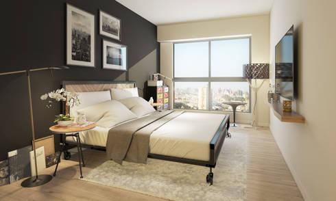Dormitorio principal - COSMOPOLITA:  de estilo  por FABRE STUDIO
