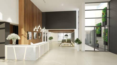 Lobby  - COSMOPOLITA:  de estilo  por FABRE STUDIO