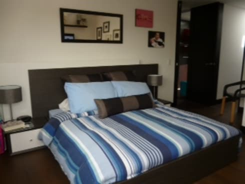PROYECTO MOBILIARIO HOGAR  APARTAMENTO: Habitaciones de estilo moderno por La Carpinteria - Mobiliario Comercial