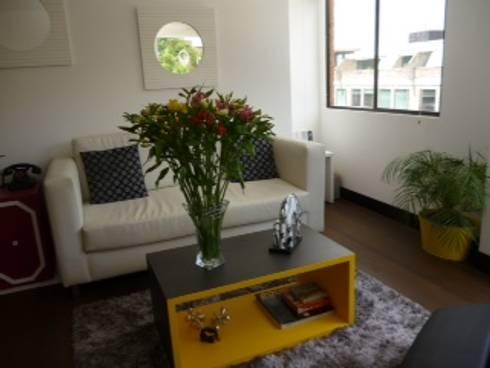PROYECTO MOBILIARIO HOGAR  APARTAMENTO: Salas de estilo moderno por La Carpinteria - Mobiliario Comercial