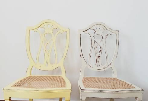 Cadeiras : Casa  por Rafaela Fraga Brás Design de Interiores & Homestyling